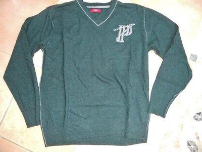 * Pure * Pullover 46 48 50 M L Con Cashmere Cardigan Verde Grigio Come Nuovo-mostra Il Titolo Originale