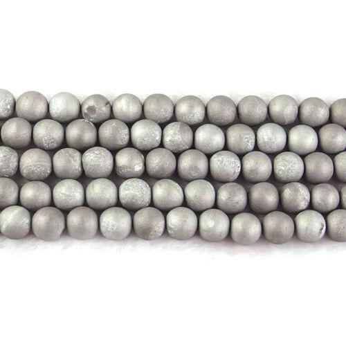 "wholesale natural matte gemstone spacer beads 4mm 6mm 8mm 10mm strand 15.5/"" DIY"