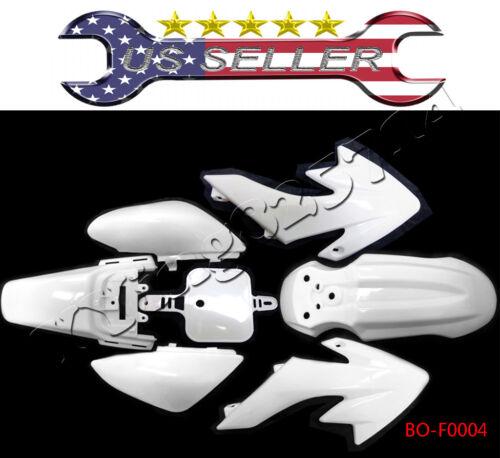 White Fender Plastic Fairing Honda XR50 CRF50 110cc 125cc SSR SDG 107 PIT BIKE