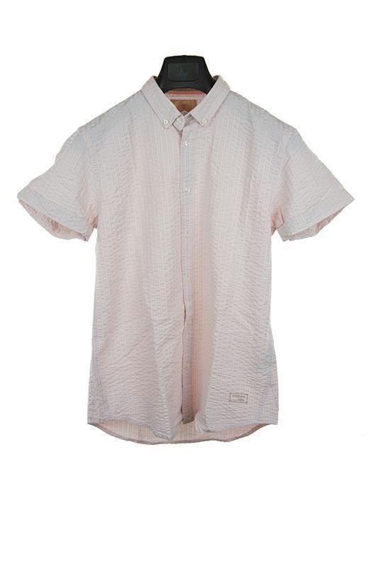 Scotch and soda pale pink short sleeve shirt size M RRP120 PU115