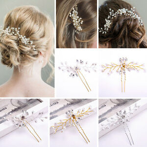 Fashion-Wedding-Hair-Pins-Bridesmaid-Crystal-Diamante-Pearls-Bridal-Clips-Grips