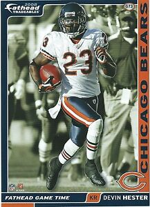 1c80c2ba Details about DEVIN HESTER FATHEAD TRADEABLES CHICAGO BEARS MIAMI  HURRICANES STICKER #G73