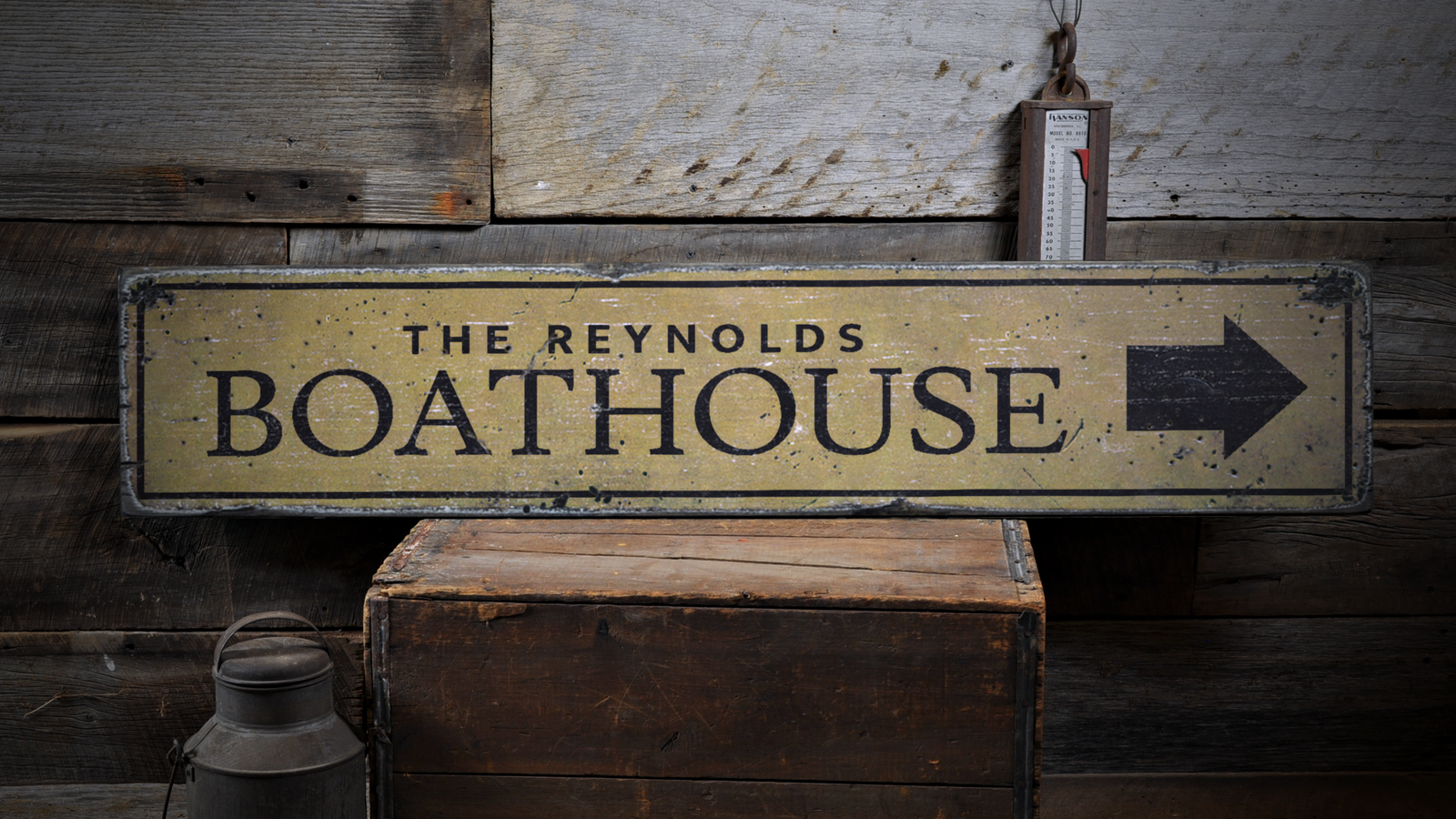 Boating, Boating Gift, Boat House - Rustic Distressed Wood Sign ENS1001790
