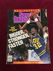 Sports-Illustrated-Magazine-November-7-1988-Utah-039-s-Mailman-Malone-No-Label-D5