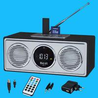 Boombox Stereo Radio Mobil Lautsprecher Fm Display Sd Karte Remote Akku Camping
