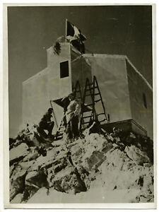 Massif-du-Mont-Blanc-nouveau-Refuge-Vallot-en-1938-Photo-Vintage-Alpinisme