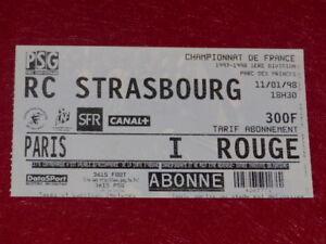 COLLECTION-SPORT-FOOTBALL-TICKET-PSG-STRASBOURG-11-JANV-1998-Champ-France