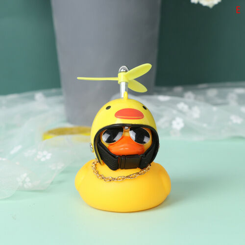 Car Bicycle Decorate Lovely Small Yellow Duck With Sound Helmet Outdoor Sp DOL