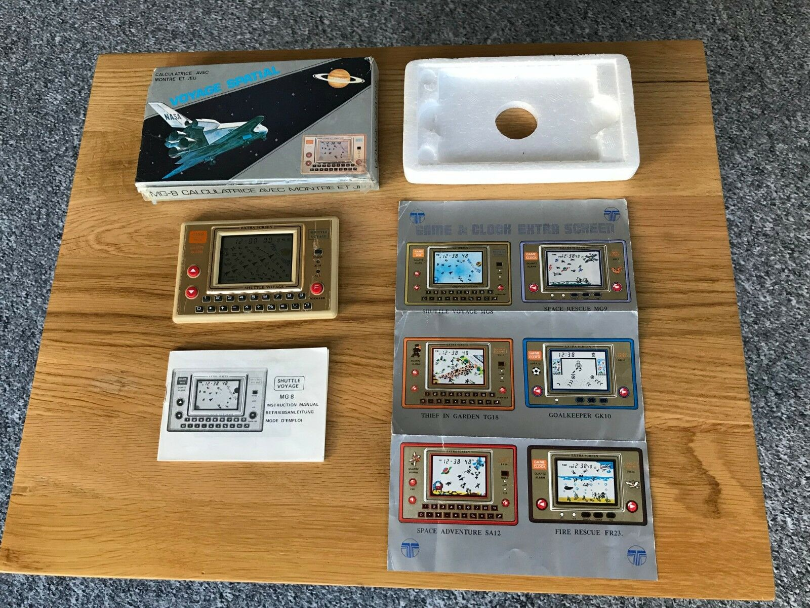 Very Rare Boxed Tronica Shuttle Voyage LCD Vintage 1983 LCD Electronic Game.