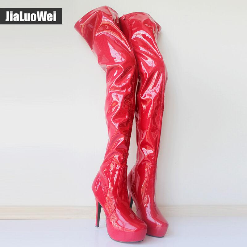 Classical 15cm Extreme High Heel overknee Platform Zip Sexy Thigh High Boots