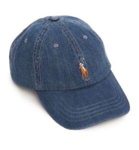 fbc10ba6a Polo Ralph Lauren Men Women Classic Medium Wash Chino Cap Horse Logo ...