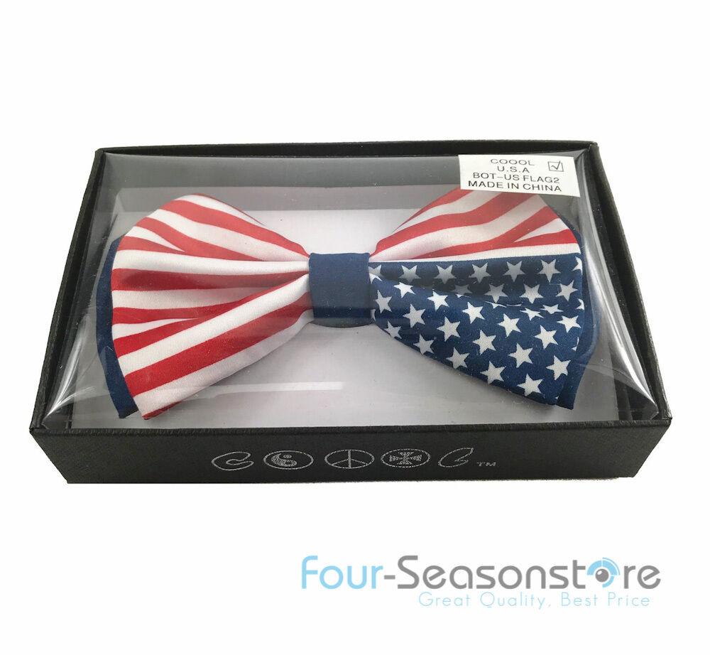 USA Flagge America Flagge Design Fliege Hals Kleidung Unisex