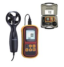 CE APPROVED DIGITAL ANEMOMETER WIND SPEED AIR VELOCITY METER THERMOMETER USB LCD