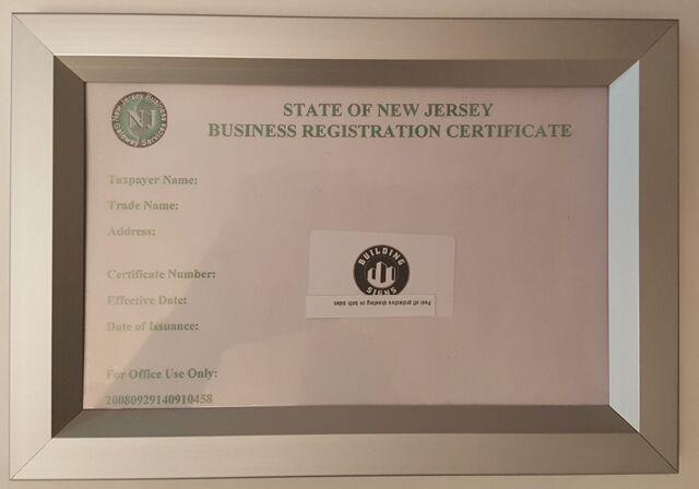 certificate nj registration duty aluminum heavy