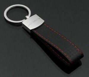KeychainKey Ring For Mercedes Benz Black Matte Leather Car AMG Logo Car Keyring