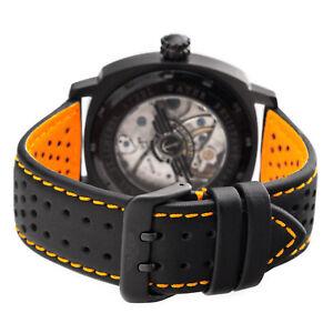 Uhrarmband-LORICA-IPB-wasserfest-ORANGE-BLACK-HighTech-PERFO-Uhr-Fliegeruhr
