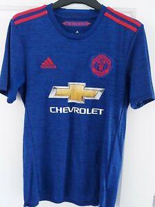 Manchester United 2016/2017 TERZA FOOTBALL SHIRT JERSEY TOP Adidas Taglia S adulto