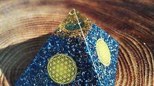 ORGONE Pyramid - Lapis Lazuli Auge mit Blume des lebens-ORGONIT Orgon Harmonizer