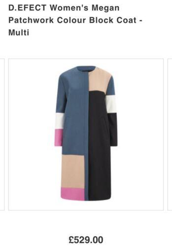 Maxi 12 Rrp Net 10 529 Patchwork Cappotto efect Color Porter Megan D Nwt £ Block A gwAqcOxqWH