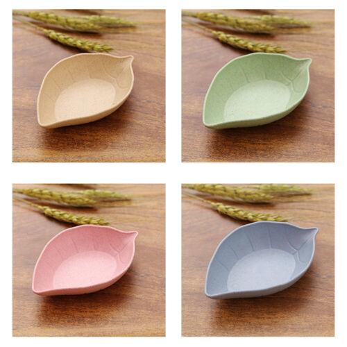 NE/_ CO/_ 4Pcs Leaf Shape Vinegar Sauce Dish Plates Bowls Seasoning Saucers Tablew