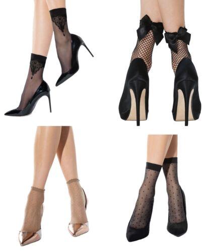 Ladies Summer Sheer Pattern Socks One Size