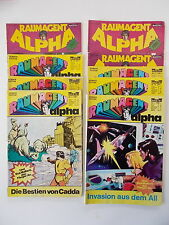 9x Raumagent alpha - Heft Nr. 3+11+13+17+21+22+26+30+33. Bastei, Comic Sammlung