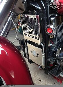 SUZUKI-VL-1500-LC-INTRUDER-STAINLESS-STEEL-SET-BATTERY-RADIATOR-COVER-GRILL