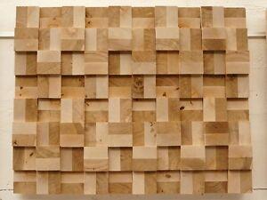 Wandverkleidung Verblender Dekorplatte Wandpaneele Hirnholz