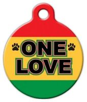 One Love - Custom Personalized Pet Id Tag For Dog And Cat Collars