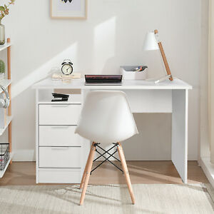 Schreibtisch Computertisch Bürotisch PC-Tisch Arbeitstisch mit 3 Schubladen