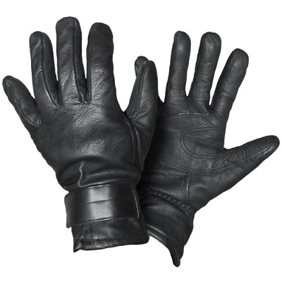 All Sizes French Army Black Leather NBC GLOVES Nuclear Biological Chemical