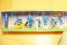 HO Faller EIGHT Gas / Service Station Worker Figures : Model Train People 151010
