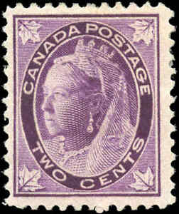 1897-Mint-H-Canada-F-Scott-68-2c-Maple-Leaf-Issue-Stamp