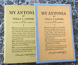My Antonia, by Willa Cather, BEST Facsimile of 1918 First Retail Edition