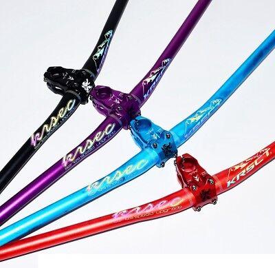 KRSEC MTB Mountain XC Road Bike Riser Bar Handlebar 31.8*760mm Reflecting logo
