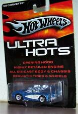Hot Wheels ULTRA HOTS '58 CORVETTE 1958 CHEVROLET Opening Hood Detailed Engine