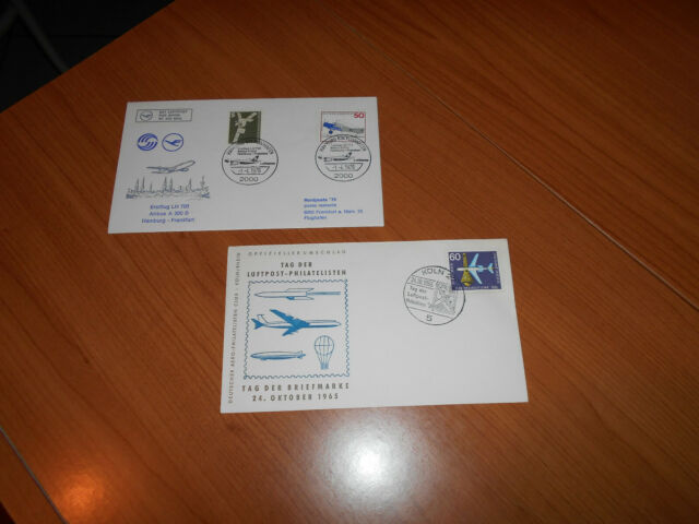 LOT OF 2 GERMANY FIRST DAY COVERS-AIRPORTS-PLANES-IN VERY GOOD CONDITION--LOT 21