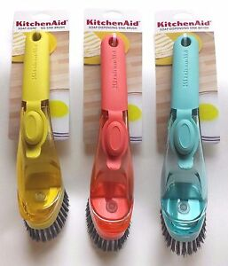 KitchenAid-Soap-Dispensing-Sink-Brush-with-Soft-Grip-Handle-in-Choice-of-Colors