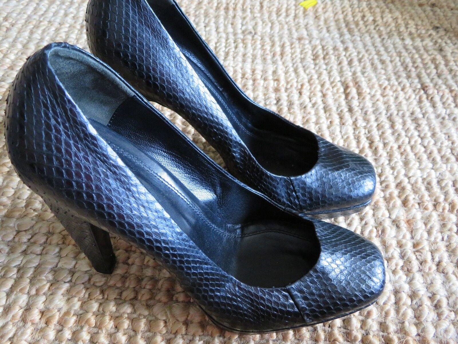 HUGO BOSS snake leather heels, size AUS 8, NEW, RRP $500