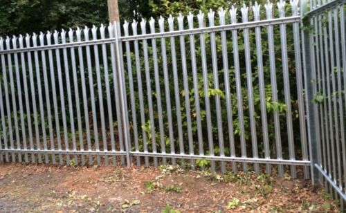 1.8m High Steel Palisade Galv Security Fencing with InstallationFitting