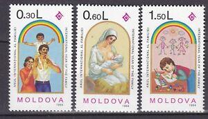 MOLDOVA-1994-MNH-SC-144-146-Intl-Year-of-the-Family