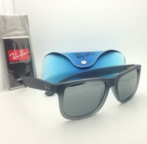 e1223958d89d6 Ray-Ban Sunglasses JUSTIN RB 4165 852 88 Rubber Grey w Grey Slvr ...