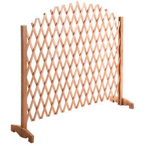 Barriere extensible en bois pour plante fleurs grille treillis ...
