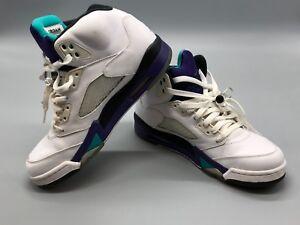 code promo 77340 ab46d Détails sur Nike Air Jordan Rétro 5 Blanc Raisins 136027 108 Homme Taille 8