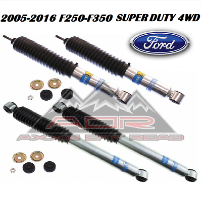 2 front /& 2 rear Kit for FORD F-250 F-350 4WD 2005-2016 0-2 Front /& 0-1 Rear inch lift Bilstein B8 5100 Series 4 Shocks