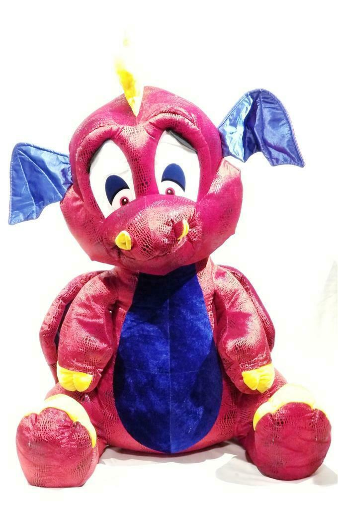 New Jumbo XXXL Size 38  Cute Red Plush Dragon - Super Size Valentine - NWT