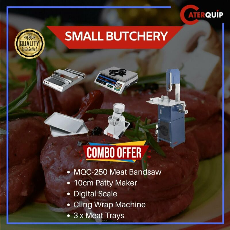 meat fridges, freezers, bandsaws, mincers,sausage fillers, scales, cling wrappers