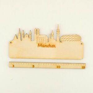 Details Zu Türschild Kinderzimmer Skyline Von München Aus Holz Diy 18cm Selbst Bemalen
