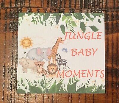 Methodical Baby Milestaone Cards Jungle Safari Animals Pack 28 Baby Shower Gift New Mum Baby