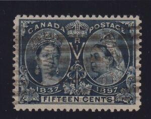 Canada Sc #58 (1897) 15c steel blue Diamond Jubilee VF Used